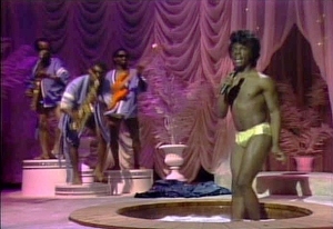 Eddie Murphy during his James Brown's Celebrity Hot Tub Party sk